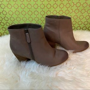 Nordstrom BP tan leather ankle booties NWOB